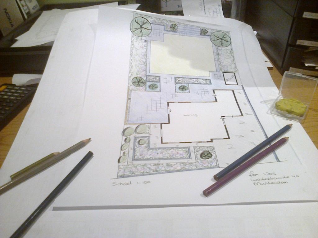 Tuintekening-ontwerp tuinaanleg