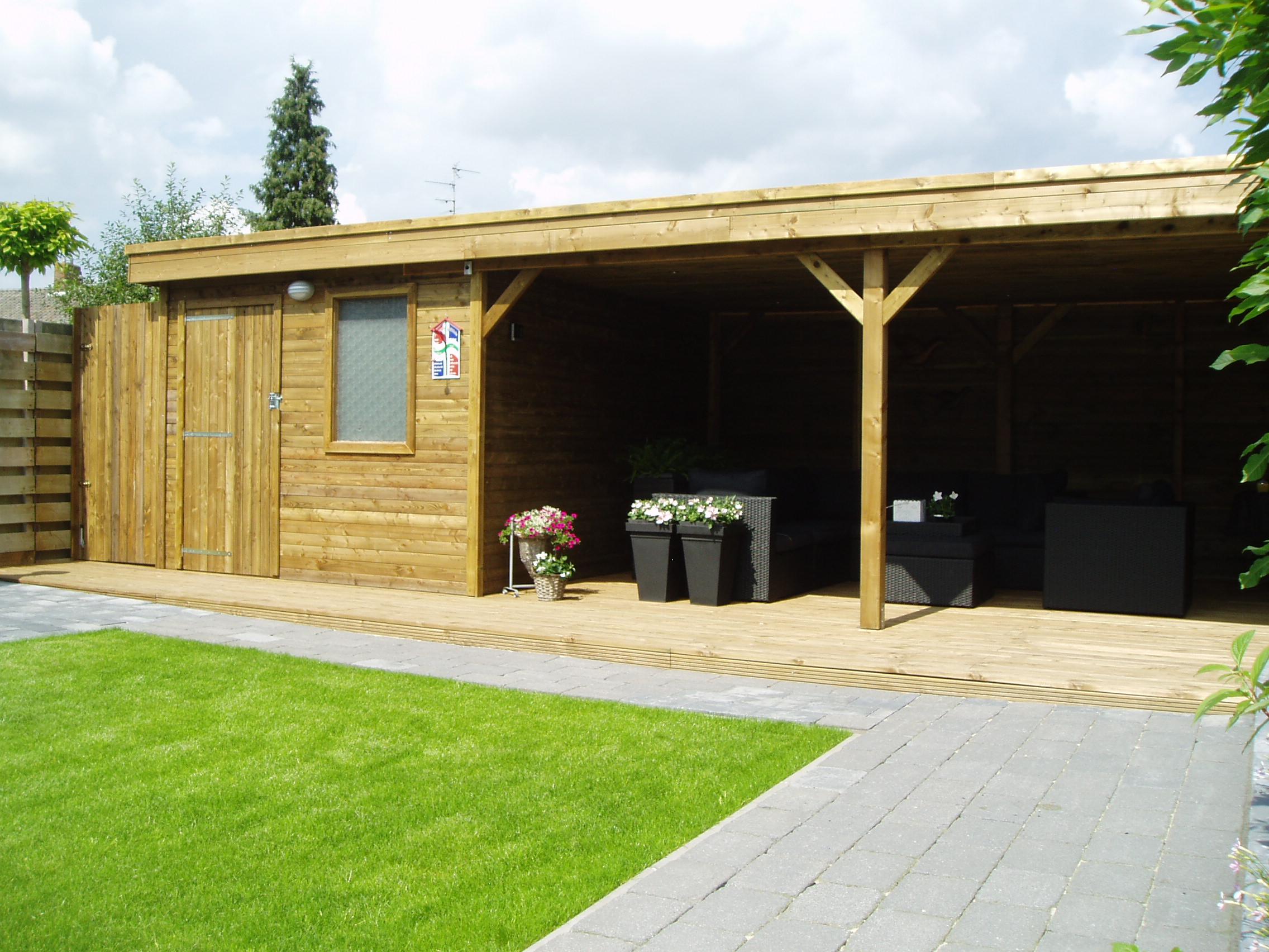 Uw tuinhuis overkapping of veranda op maat gemaakt!!